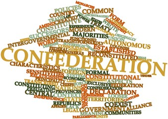 Word cloud for Confederation