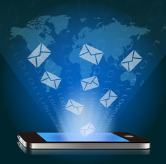 ベクター、スマートフォンと世界のメール