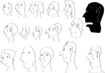 People face cartoon