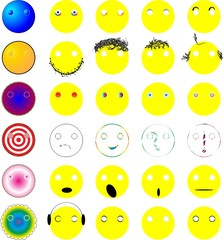 Emoticons and their individual parts