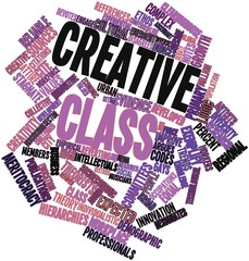 Word cloud for Creative class