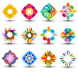 set of colorful design elements, icons