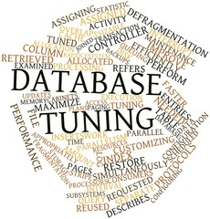 Word cloud for Database tuning