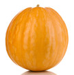 Ripe orange pumpkin isolated on white