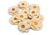 Ciambelline doppie con marmellata, cucina sarda