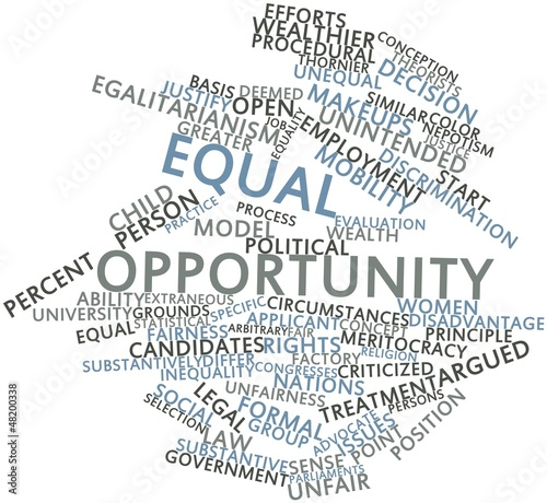 Word cloud for Equal opportunity