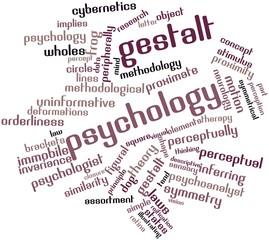 Word cloud for Gestalt psychology