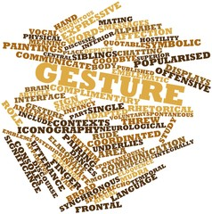 Word cloud for Gesture