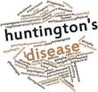 Word cloud for Huntington's disease