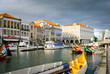 Aveiro with typical boats, Portugal