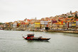 Porto with wine boat, Portugal