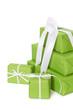 Mehrere grüne Geschenke