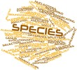 Word cloud for Species