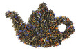 teapot made from tea leaves