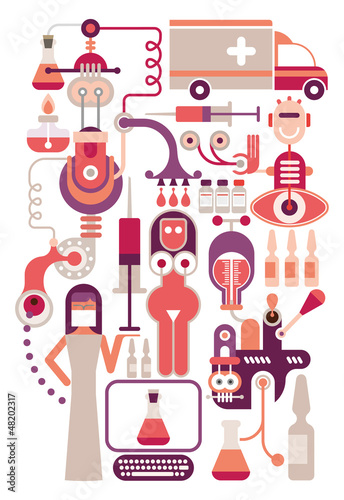 Medical laboratory - vector illustration