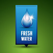 Water drop vector nature background - Fresh water
