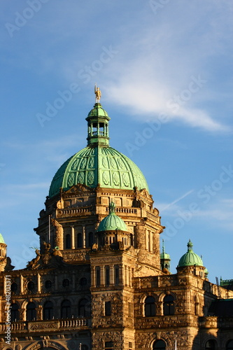 Green Domes and Details on Victoria Parliament