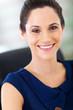 gorgeous young businesswoman closeup portrait