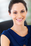 gorgeous young businesswoman closeup portrait