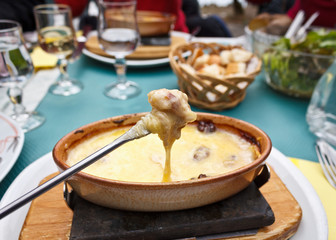 Cheese Fondue on a Fork