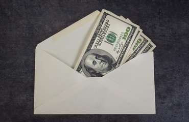 Money Envelope full of Cash.