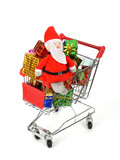 Christmas decoration box with shopping carts,