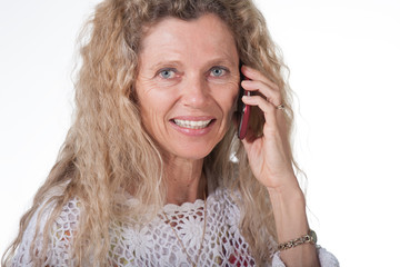 Woman on cell phone