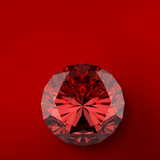 red diamond on red background