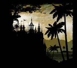 château, temple, habitation, rêve, monde, imaginaire, conte,