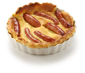 toad in the hole, a traditional english dish