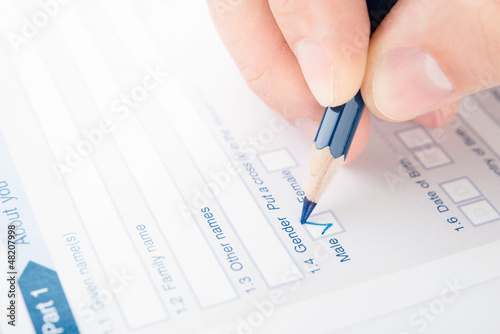 Filling checkbox in a questionnaire