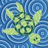 Aboriginal turtle dot painting in vector format