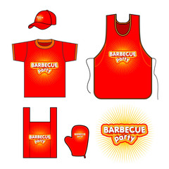Barbecue party set design