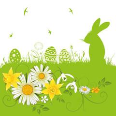 Ostern, Frühling, Osterhase, Frühlingsblumen