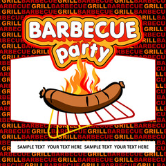Barbecue party design