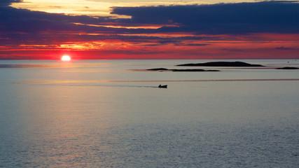 Sunset in Sweden, Bohuslan