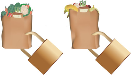 sacchetto con spesa