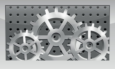 Metal cogwheel icon