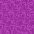 Pink hearts for Valentine - seamless pattern