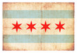 Grunge-Flagge Chicago (USA)