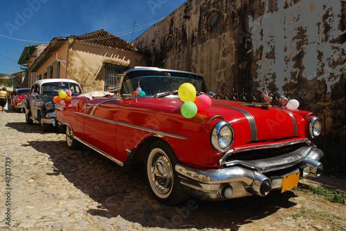 Vieille automobile, Trinidad, Cuba - 48213739