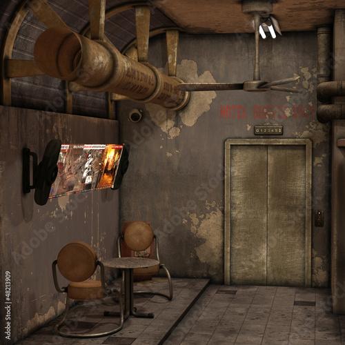 Hintergrund - Wartebereich eines alten Hotels