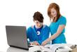 Teenager beim Lernen