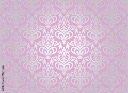 Pink silver pale wallpaper background by elvil royalty for Pink and silver wallpaper