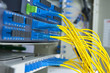 fiber optical network cables patch panel and switch