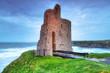 Ruins of Ballybunion castle on the coast , Ireland