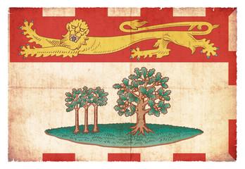 Grunge-Flagge Prince Edward Island (Kanadische Provinz)