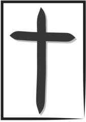 Kreuz Trauer Karte