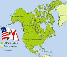 NAFTA map