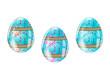 Trio d'oeufs déco - Pâques